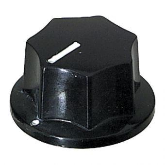Poti-knoflík Černá barva, veliké provedení