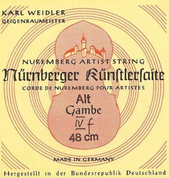 Nürnberger struny pro Gambe Chromová ocel, ovinutá D