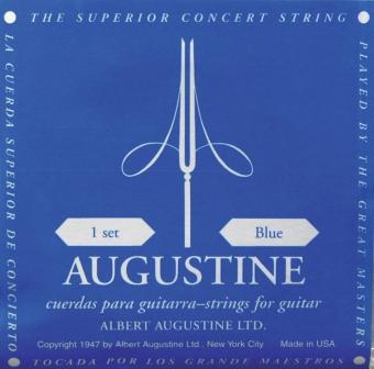 Augustine struny pro klasickou kytaru Sada Blau high