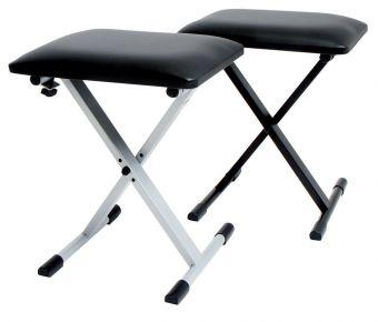 Stolička pro Keyboard Stříbrno/šedá KB-10SI