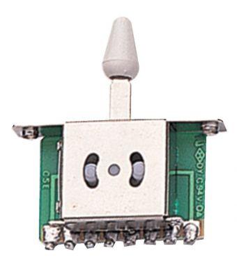 Vypínač 3-cestný Bílý knoflík