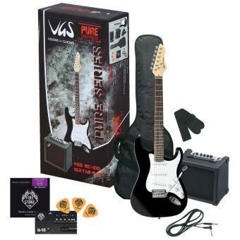 E-kytara RC-100 Kytarový set Černá