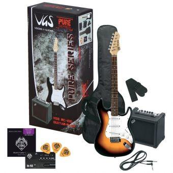 E-kytara RC-100 Kytarový set 3-Tone Sunburst