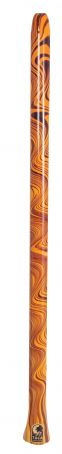 World Percussion Didgeridoo Ornage Swirl DIDG-DOS