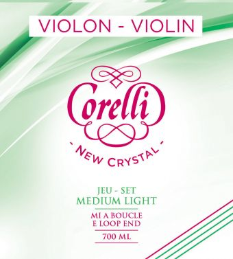 Corelli struny pro housle New Crystal Light 700ML