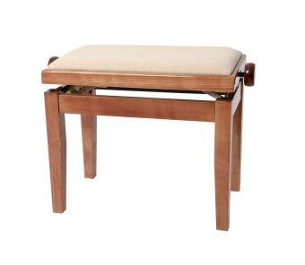 Piano stolička Deluxe Třešeň lesk Béžový potah JB2