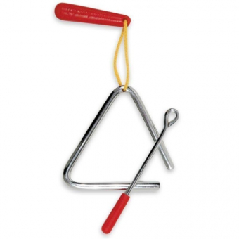 RHYTHMIX Triangl Červená rukojeť LPR482-I