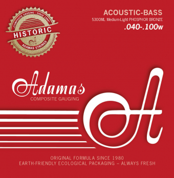 Struny pro akustický bas Adamas Phosphor Bronze Sada 4-string Med-Light 5300ML