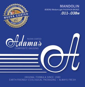 Struny pro Mandolínu Adamas Nuova coated Med.-Light .011 8080NU