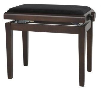 Piano stolička Deluxe ořech - tmavě matné Černý potah JB2
