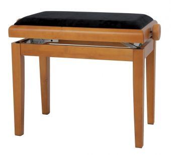 Piano stolička Deluxe dub - matné provedení Černý potah JB2