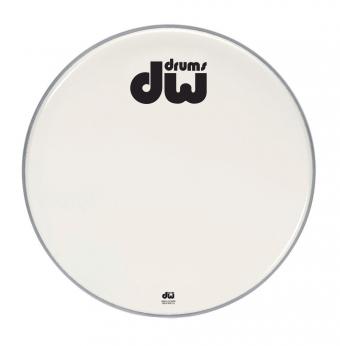 Blána pro basový buben Double A - bílá, hladký povrch 24
