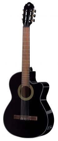 E – akustická kytara Student black E-akustická / černá