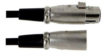 Kabel pro mikrofon Basic Line 3 m/jednotkové balení 10 ks