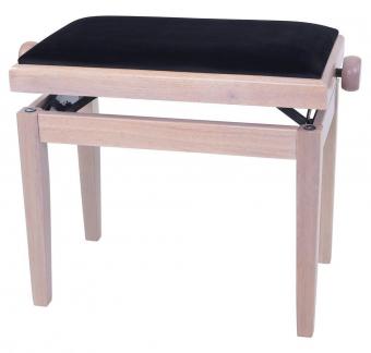 Piano stolička Deluxe White Ash Černý potah JB2
