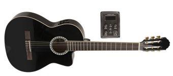 Koncertní kytara Basic Electro E-akustická, černá