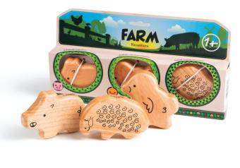 Perkusní sada Řehtací zvířata 3-dílné Farm Set 3-dílné