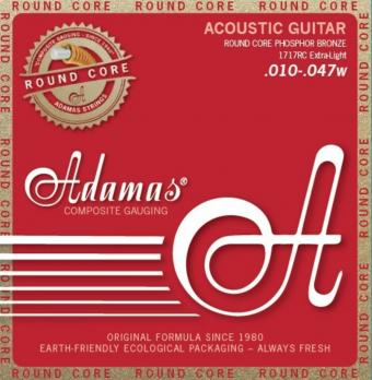 Adamas struny pro akustickou kytaru Historic Reissue Phosphor Bronze Round Core Extra Light .010-.047 1717RC
