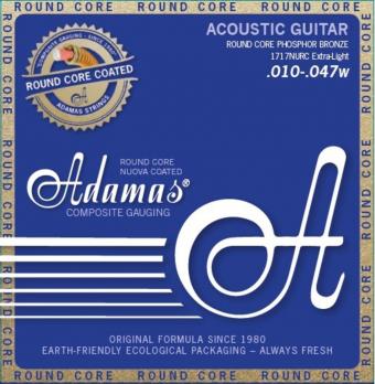 Adamas struny pro akustickou kytaru Nuova Phosphor Bronze  Round Core Extra Light .010-.047 1717NURC