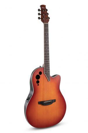 E – akustická kytara MS Steel-String E-akustická kytara AE48-1I SSB Honeyburst Satin AE48-1I