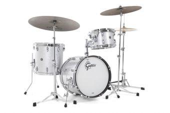 Bass drum USA Brooklyn Stříbrná třpytivá