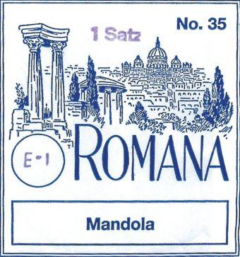 Romana struny pro Mandolu  E 2 kusy