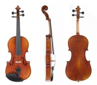Housle Maestro 1-VL3  4/4 včetně Setup a pouzdra pro housle, karbonového smyčce a strun Larsen Il Cannone