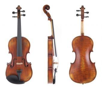 Housle Maestro 2-VL4  4/4 včetně Setup a pouzdra pro housle, Massaranduba smyčce a strun Larsen Il Cannone